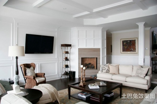 纯白的简约元素北欧风格装修客厅图片装修效果图