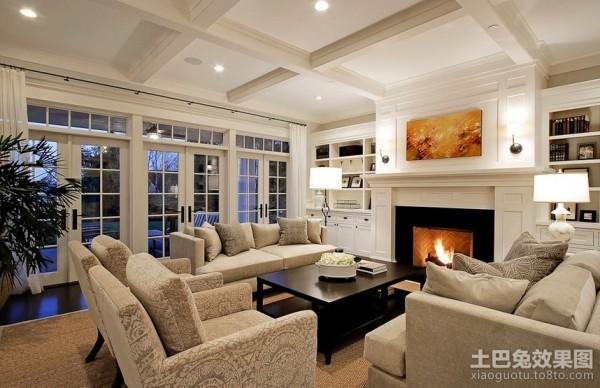 山间别墅美式风格装修客厅图片装修效果图