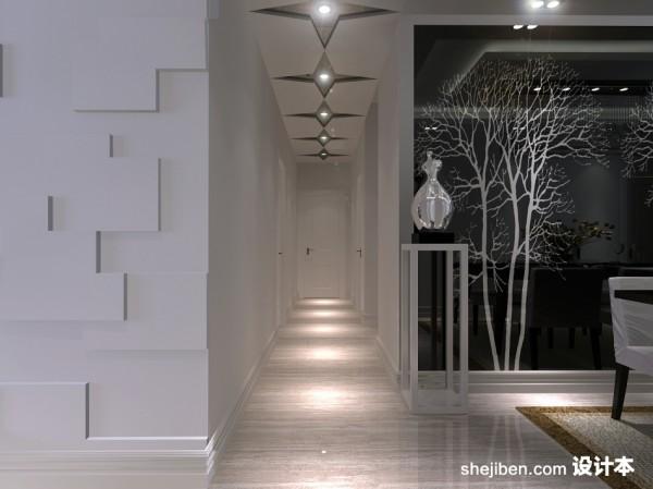 两室一厅装修图吊顶家具玄关进门装修效果图(2/3)松森缘走廊木春图片