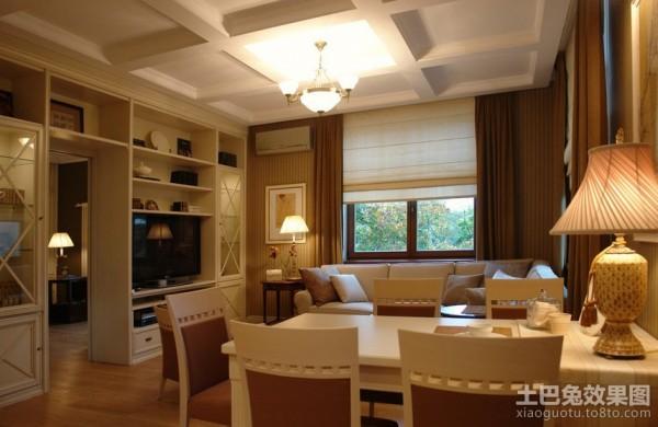 60平米小户型美式客厅装修效果图 (3/3)