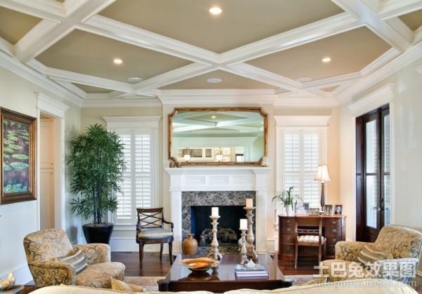 120平米房屋装修效果图欧式客厅吊顶装修效果图图片