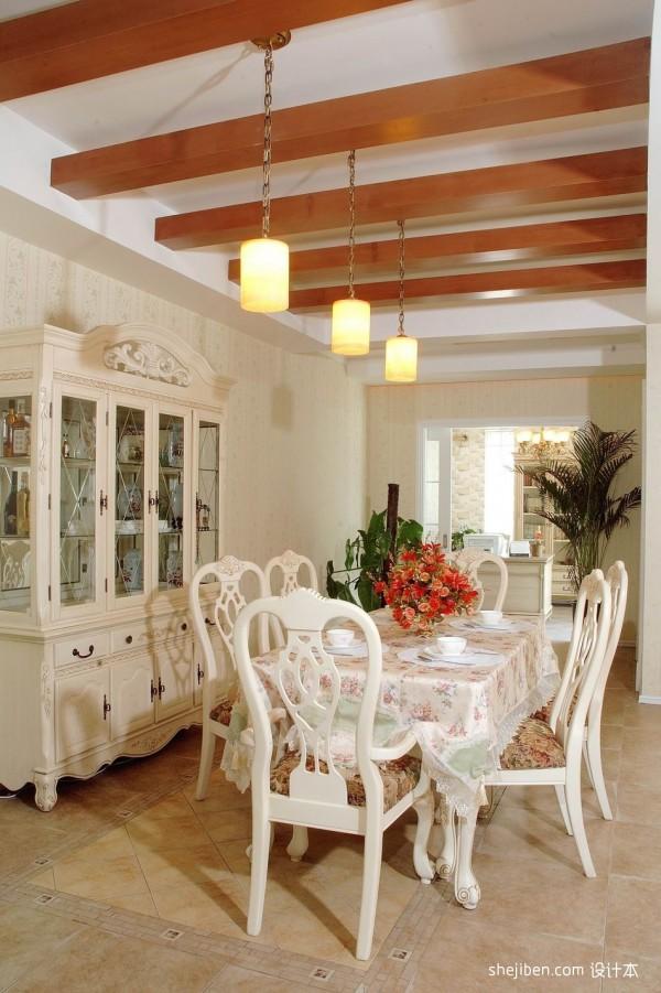 美式乡村餐厅吊顶效果图装修效果图 第2张 家居图库 九正家居网高清图片