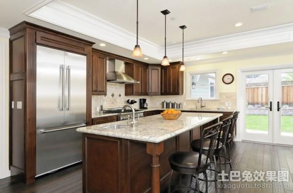 2013最新欧式开放式厨房装修效果图装修效果图 第1张 家居图库 九正高清图片
