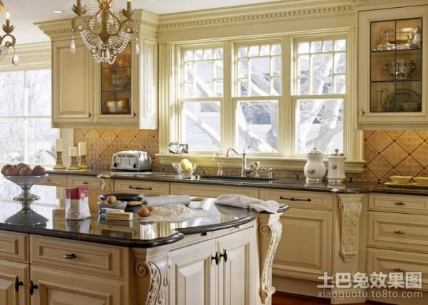 欧式厨房装修效果图 欧式厨房装修装修效果图