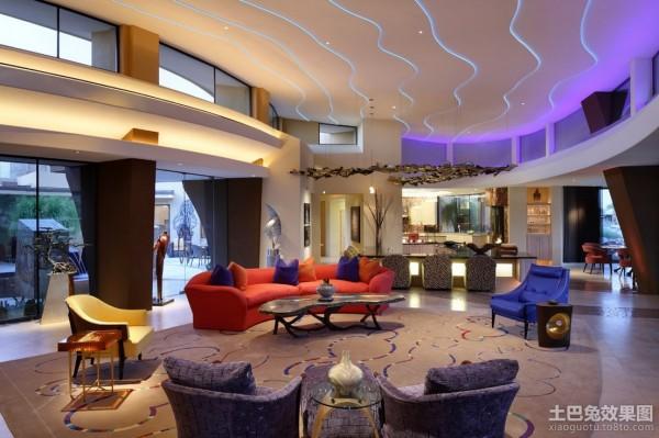 最新独栋别墅图片 豪华别墅客厅图片大全装修效果图