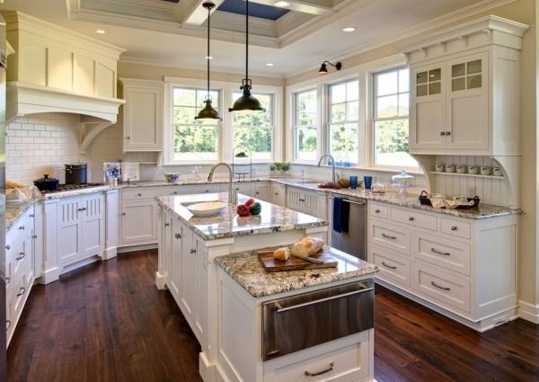 美式古典风格厨房整体橱柜装修效果图 (3/3)图片