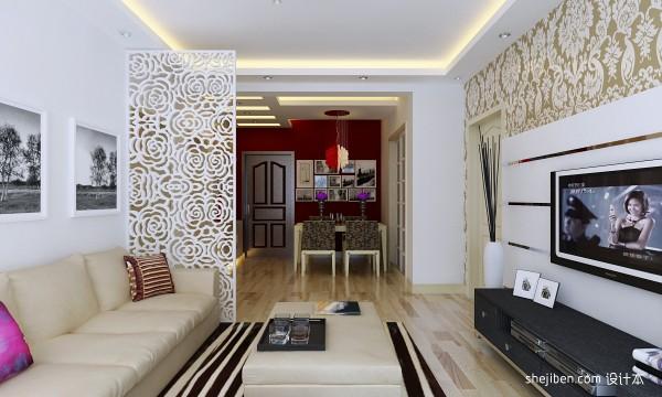 客厅雕花屏风隔断 效果 图欣赏装修 效果 图高清图片