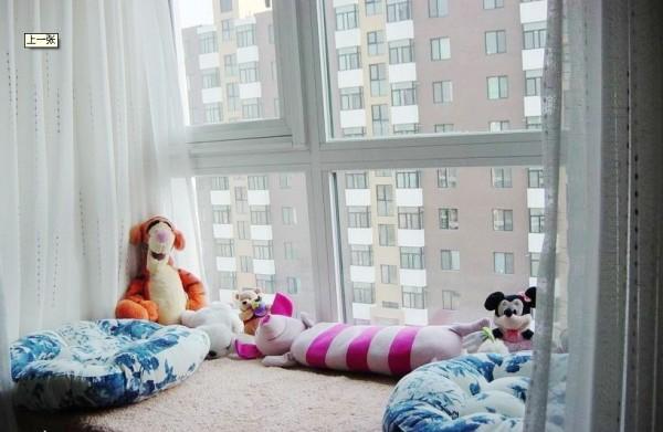 简约现代儿童卧室飘窗效果图装修效果图