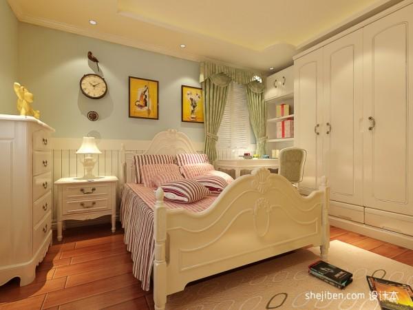 别墅欧式女孩房装修效果图 现代