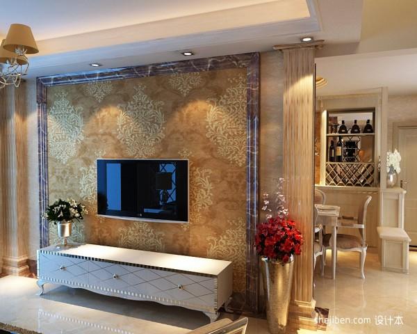大理石花纹电视背景墙装修效果图装修效果图