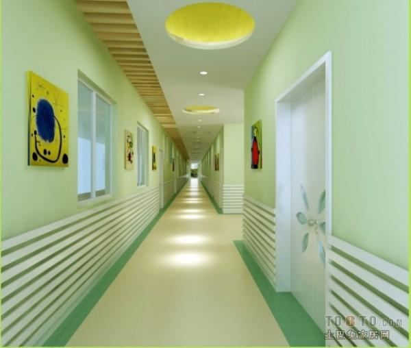 幼儿园走廊墙面布置装修效果图