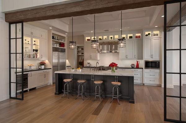 欧式开放式厨房装修设计 (2/3)图片