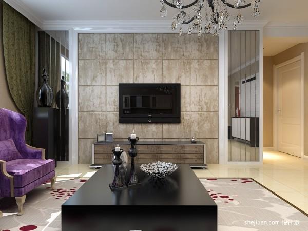 艺术瓷砖电视背景墙效果图欣赏装修效果图