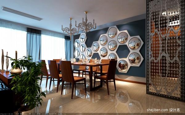 餐厅背景墙效果图 家装餐厅设计 (1/3)