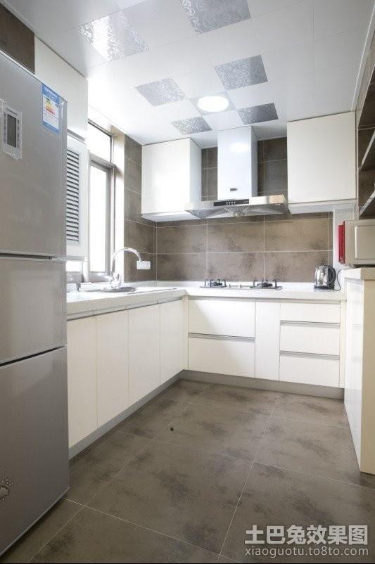 80平米小户型开放式厨房装修效果图欣赏 4 5