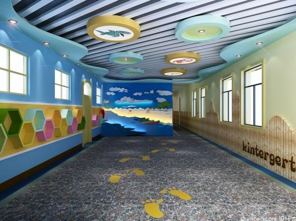 幼儿园走廊环境布置图片装修效果图