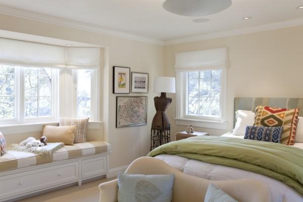 欧式卧室飘窗装修图装修效果图