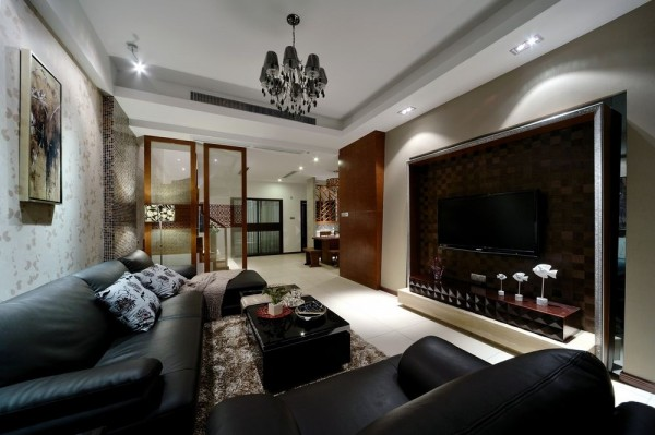中式客厅电视机背景墙设计 (2/5)图片