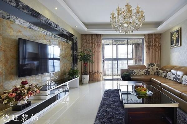客厅瓷砖电视背景墙装修设计装修效果图