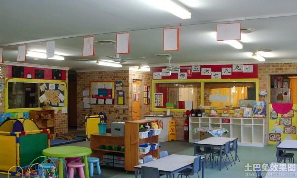 幼儿园教室桌椅布置图片欣赏装修效果图