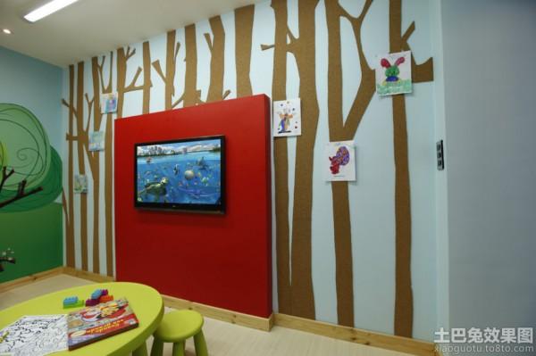 2013幼儿园教室装饰图案装修效果图