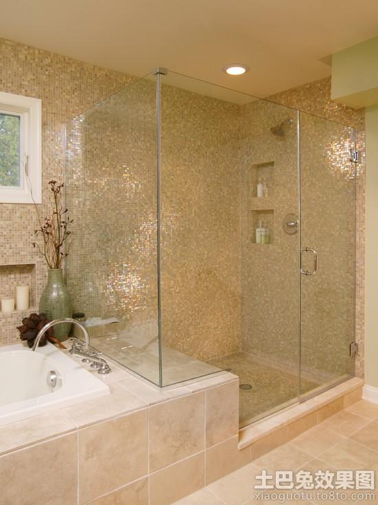 卫生间金色马赛克瓷砖贴图图片装修效果图