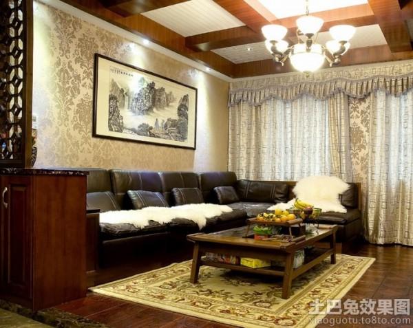 中式家居客厅吊顶灯装修效果图_第5张 - 家居图库图片