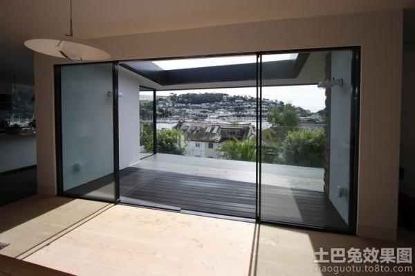 阳台玻璃推拉门效果图装修效果图