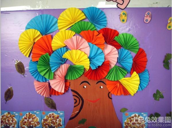 幼儿园教室主题墙面设计效果图装修效果图