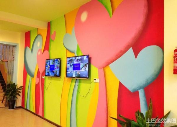 幼儿园内部墙体彩绘图片装修效果图