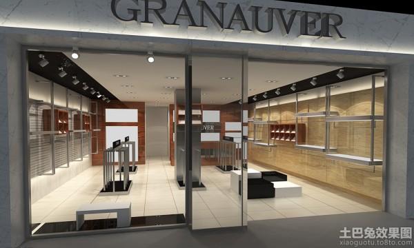 14平米左右的服装店面装修需要多少钱 吊顶和墙面高清图片