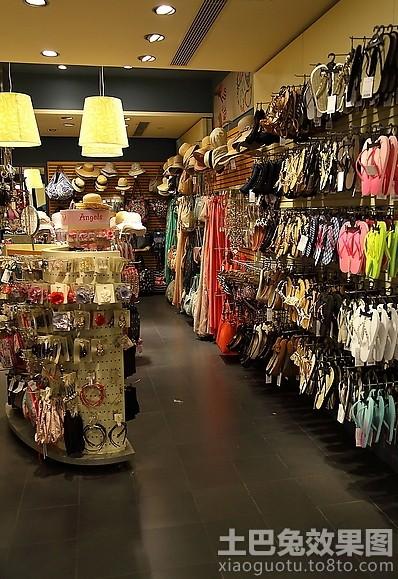 服装饰品店货架摆放图片大全装修效果图