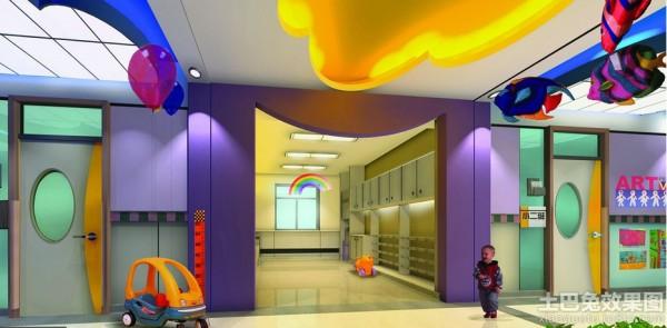 幼儿园走廊环境布置设计效果图装修效果图