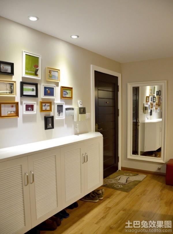 小户型玄关鞋柜照片墙装饰效果图装修效果图 第1张 家居图库 九正家