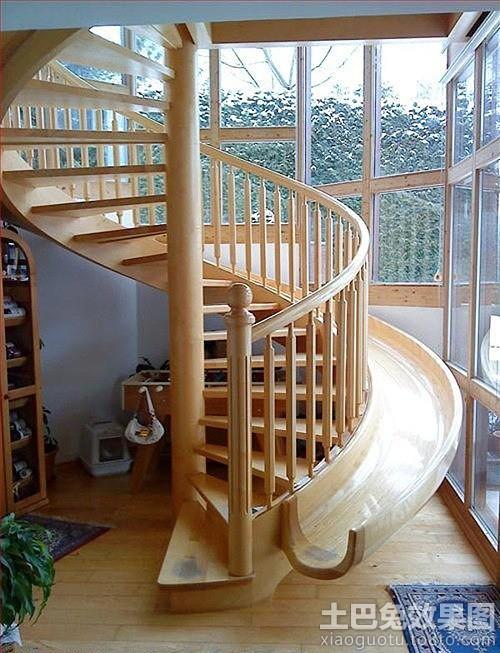 实木旋转楼梯设计图片装修效果图
