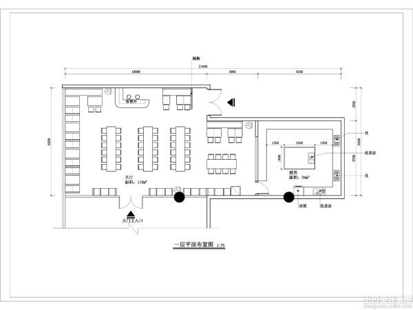 快餐店设计平面图欣赏装修效果图