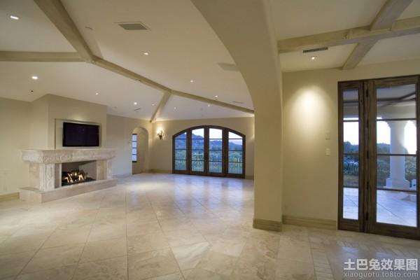 客廳地板瓷磚貼圖裝修效果圖