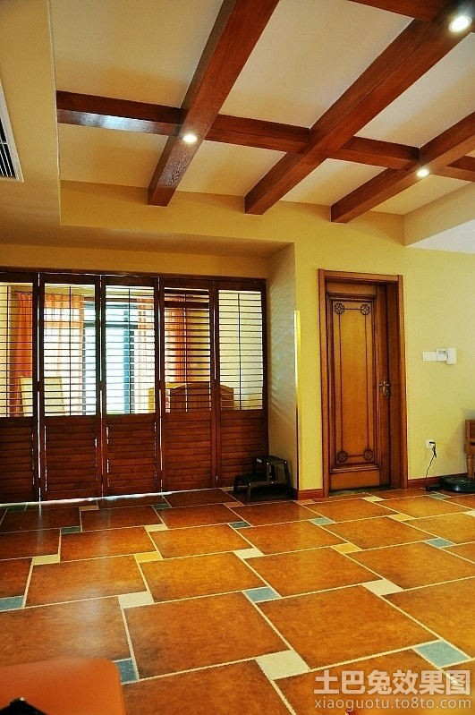 东南亚风格室内地板砖拼花贴图