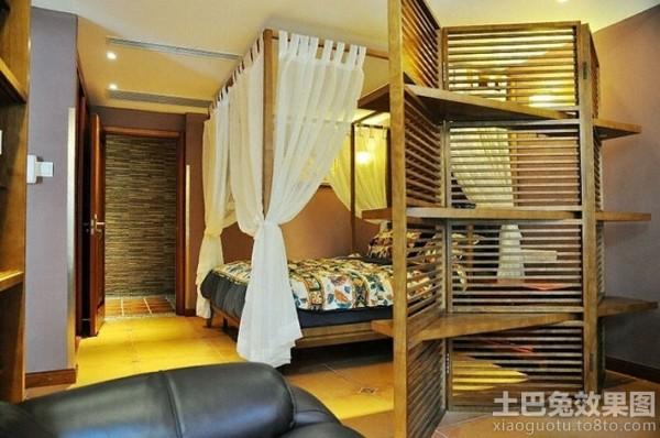 创意卧室木质隔断架装修装修效果图_第1张 - 家居图库图片