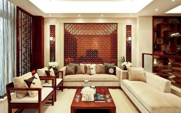 新中式风格客厅家具摆放效果图大全装修效果图图片