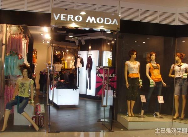 商场服装店门面橱窗装修装修效果图