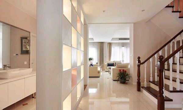 简约风格复式楼房室内楼梯过道装修效果图 (3/9)图片