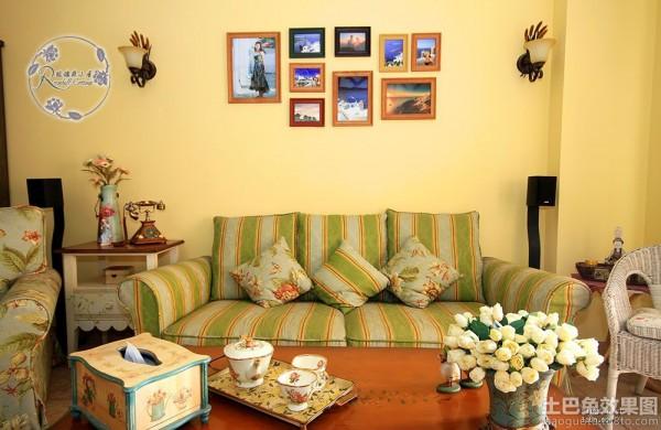 田园风格装修客厅沙发效果图装修效果图
