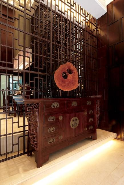 家居图库 新中式风格别墅装修客厅吊顶效果图 > 第2张  共 8 张图片