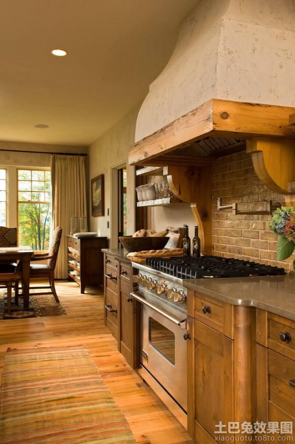 仿古欧式厨房装修效果图大全