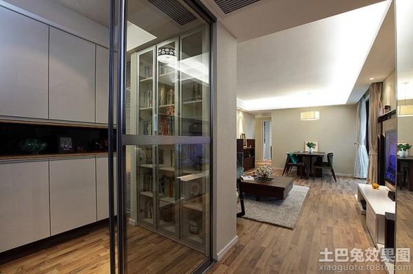 现代简约客厅玄关玻璃隔断效果图装修效果图