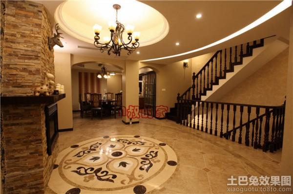 别墅地板砖效果图大全别墅装修客厅地板砖图图片15
