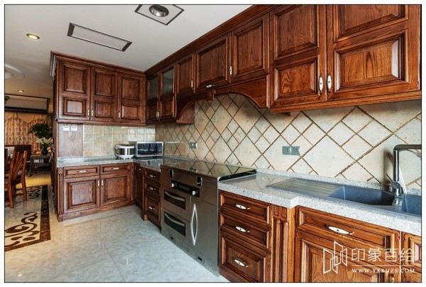 中式家庭厨房装修效果图大全装修效果图