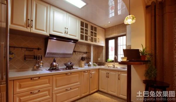 美式风格厨房装修橱柜效果图 (9/10)图片
