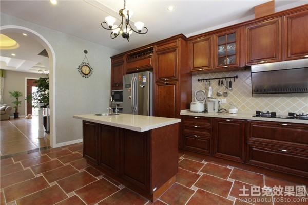 美式风格实木整体橱柜图片装修效果图_第3张 - 家居